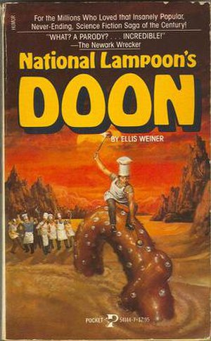 National Lampoon's Doon - Pall Agamemnides, aka Mauve'Bib and the Kumkwat Haagendasz, rides one of the giant pretzels of Doon, the dessert planet