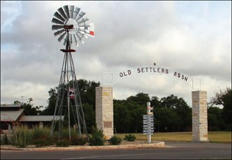 Round Rock, Texas - The entrance to the Old Settlers Association facilities in Round Rock, Texas