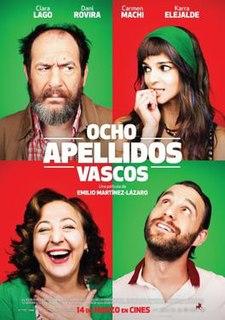<i>Ocho apellidos vascos</i> 2014 film directed by Emilio Martínez-Lázaro