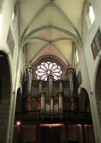Annecy Cathedral - The grand organ in Annecy Cathedral