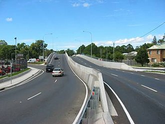 Petrie, Queensland - Gympie Road railway flyover/overpass, Petrie