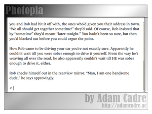 Photopia - Image: Photopia computer game screenshot