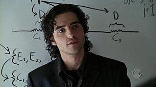 Charlie Eppes character in the CBS crime drama Numb3rs