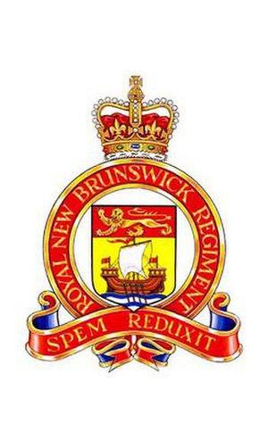 The Royal New Brunswick Regiment - Image: RNBR cap badge