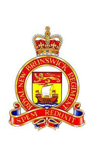 The Royal New Brunswick Regiment - Image: RNBR cap badge