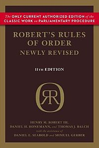 Robert's Rules of Order - Wikipedia, the free encyclopedia