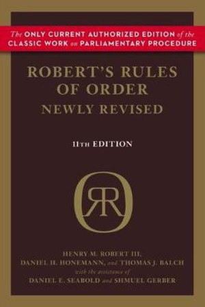 Robert's Rules of Order - Cover of 2011 (11th) edition