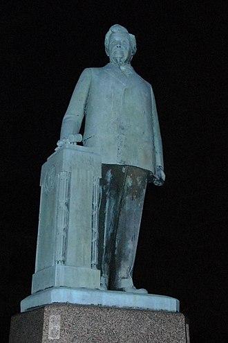 Henry Thomas Rainey - Statue of Henry T. Rainey, north of Carrollton, Illinois