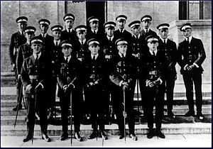 Royal Canadian Naval Air Service - The first group of cadets of the Royal Canadian Naval Air Service being trained at the US Navy Ground School, Walker Hall, Massachusetts Institute of Technology, circa Sept 1918.