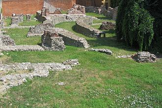 Milan - Ruins of the Emperor's palace in Mediolanum.