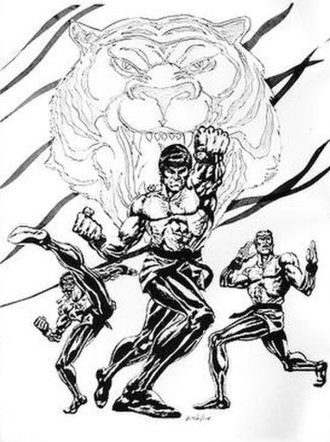 "Sons of the Tiger - ""The Sons of the Tiger"" (from left) Abe Brown, Lin Sun, and Bob Diamond. Art by Ron Wilson."