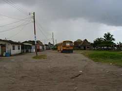Sambo Creek - coast with residential houses (2005)