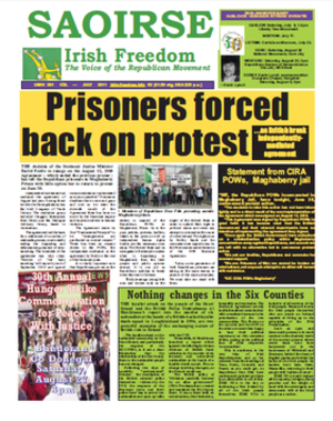 Saoirse Irish Freedom - Image: Saoirse Irish Freedom FP July 2011
