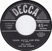 Shake Rattle and Roll Bill Haley Decca 1954.jpg