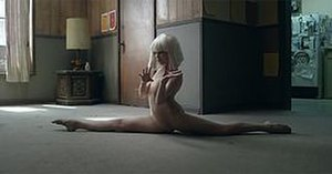 Chandelier (song) - A shot of the music video, featuring dancer Maddie Ziegler.