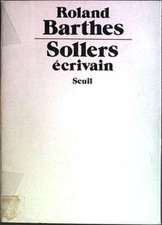 Writer Sollers - Cover of the first edition