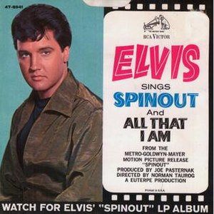 Spinout (song) - Image: Spinout b w All That I Am by Elvis Presley US single flipside
