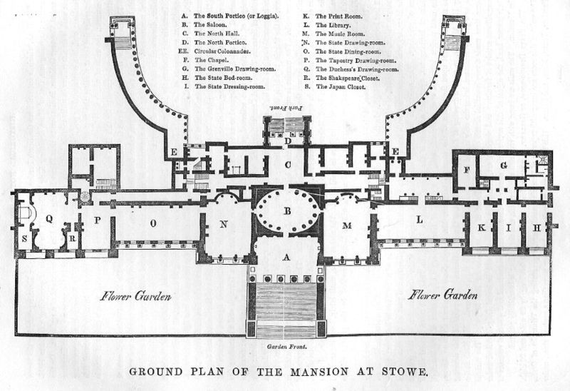 File:Stowe House Ground Plan 1848