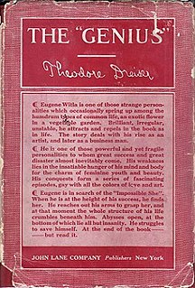 "<i>The ""Genius""</i> (novel) novel by Theodore Dreiser"