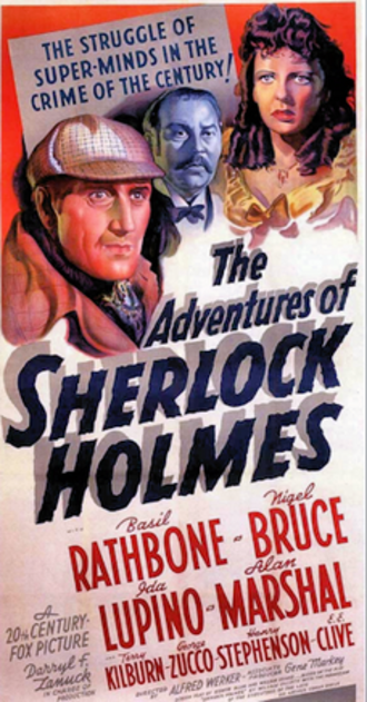 The Adventures of Sherlock Holmes (film) - 1939 US theatrical poster