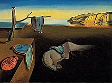 "Image of Dalí's 1931 painting, ""The Persistence of Memory"""