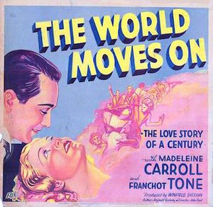 The World Moves On - 1934 theatrical poster