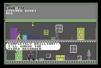 The Young Ones (video game) - Screen shot from the Commodore 64 version of the game