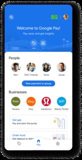 Google Pay Mobile payments platform developed by Google