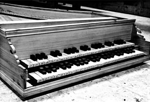 Meantone temperament - Figure 3: The archicembalo, a harpsichord-like instrument built to use an extended quarter-comma meantone tuning