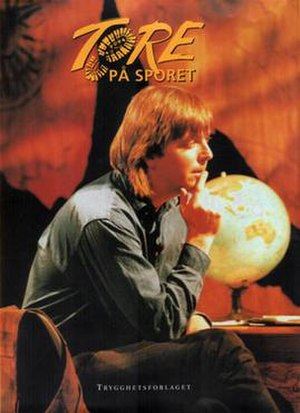 Tore på sporet - An early promotional poster of the show and presenter Tore Strømøy
