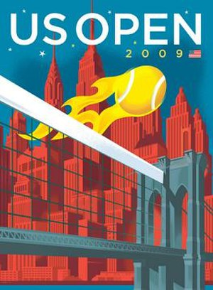 2009 US Open (tennis) - Image: US Open tennis 2009 poster