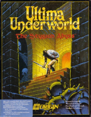 Ultima Underworld: The Stygian Abyss - Cover art by Denis R. Loubet
