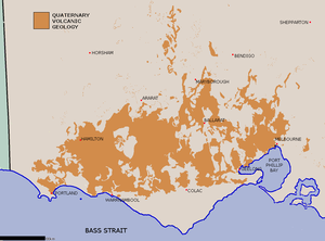 Western District (Victoria) - Map of the geologically volcanic area