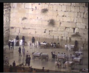 Western Wall camera - A screenshot of Aish HaTorah's Western Wall camera