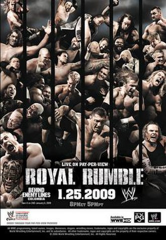 Royal Rumble (2009) - Promotional poster featuring various WWE wrestlers