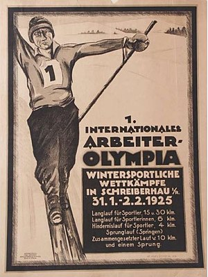 1925 Workers' Winter Olympiad - Image: 1925 Workers' Winter Olympiad poster