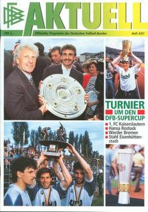 1991 DFB-Supercup - Tournament programme cover