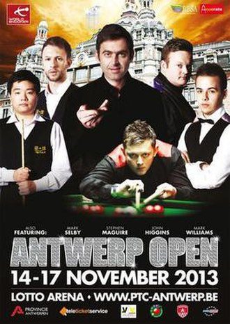 European Tour 2013/2014 – Event 7 - Image: 2013 Antwerp Open poster