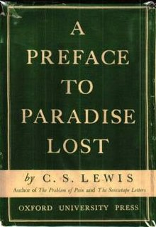 a preface to paradise lost a preface to paradise lost