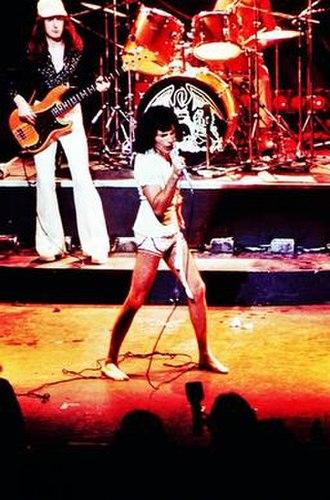 "A Night at the Opera (Queen album) - Queen performing live during their 1975 ""A Night at the Opera"" tour"