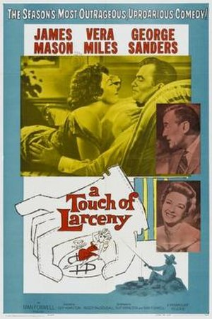 A Touch of Larceny - US Theatrical release poster