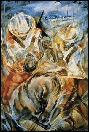 Carlos Enríquez Gómez - Abduction of the Mulatto Women; 1938, Carlos Enriquez.