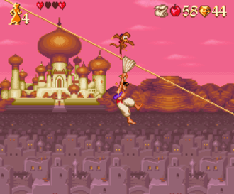 Disney's Aladdin (Capcom video game) - One of the SNES version's stages
