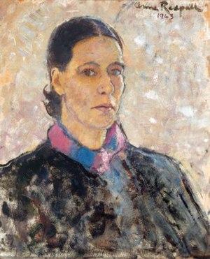 Anne Redpath - Self-portrait, 1943. Oil on board, 43 x 53 cm. Ruth Borchard Collection