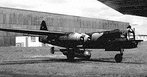 Arado E.381 - An Arado E.381 suspended under the belly of the Ar 234C mother ship