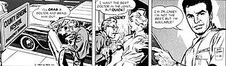 Neal Adams - Premiere of the Ben Casey strip, November 26, 1962. Art by Adams.