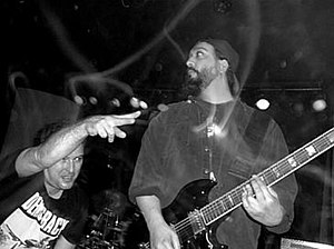 The No WTO Combo - Jello Biafra and Kim Thayil as part of The No WTO Combo, December 1, 1999.