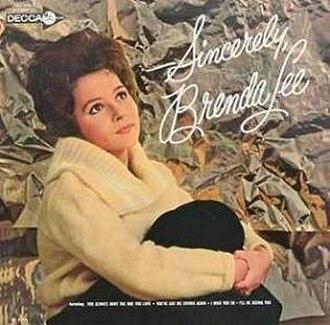 Sincerely, Brenda Lee - Image: Brenda Lee Sincerely