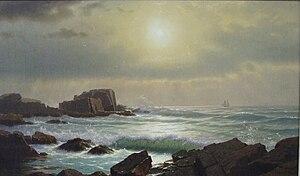 William Stanley Haseltine - Image: Castle rocks at Nahant, Massachusetts