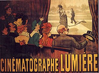 Auguste and Louis Lumière - The world's first film poster, for 1895's L'Arroseur arrosé
